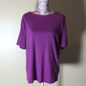 CJ Banks Rose Short-Sleeve Top - Size 1X (New!)